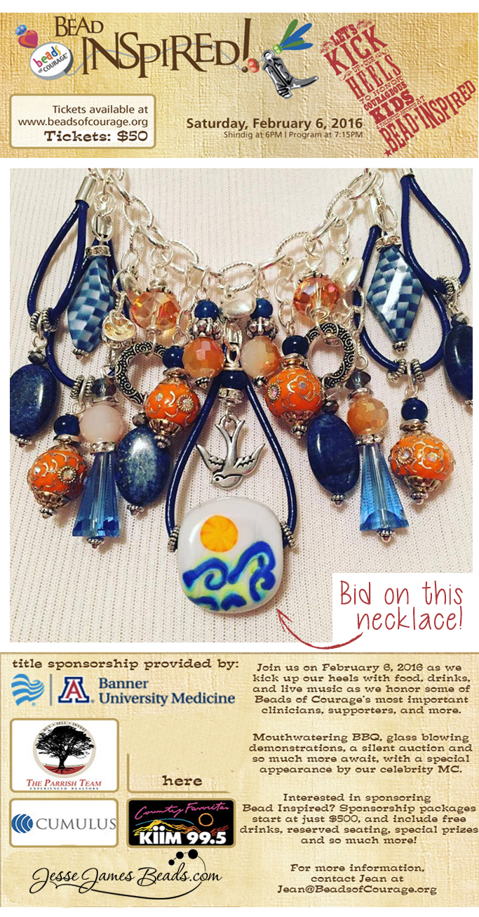 Bead Inspired Bead Charity Event - Bid to win a necklace made by Candie Cooper