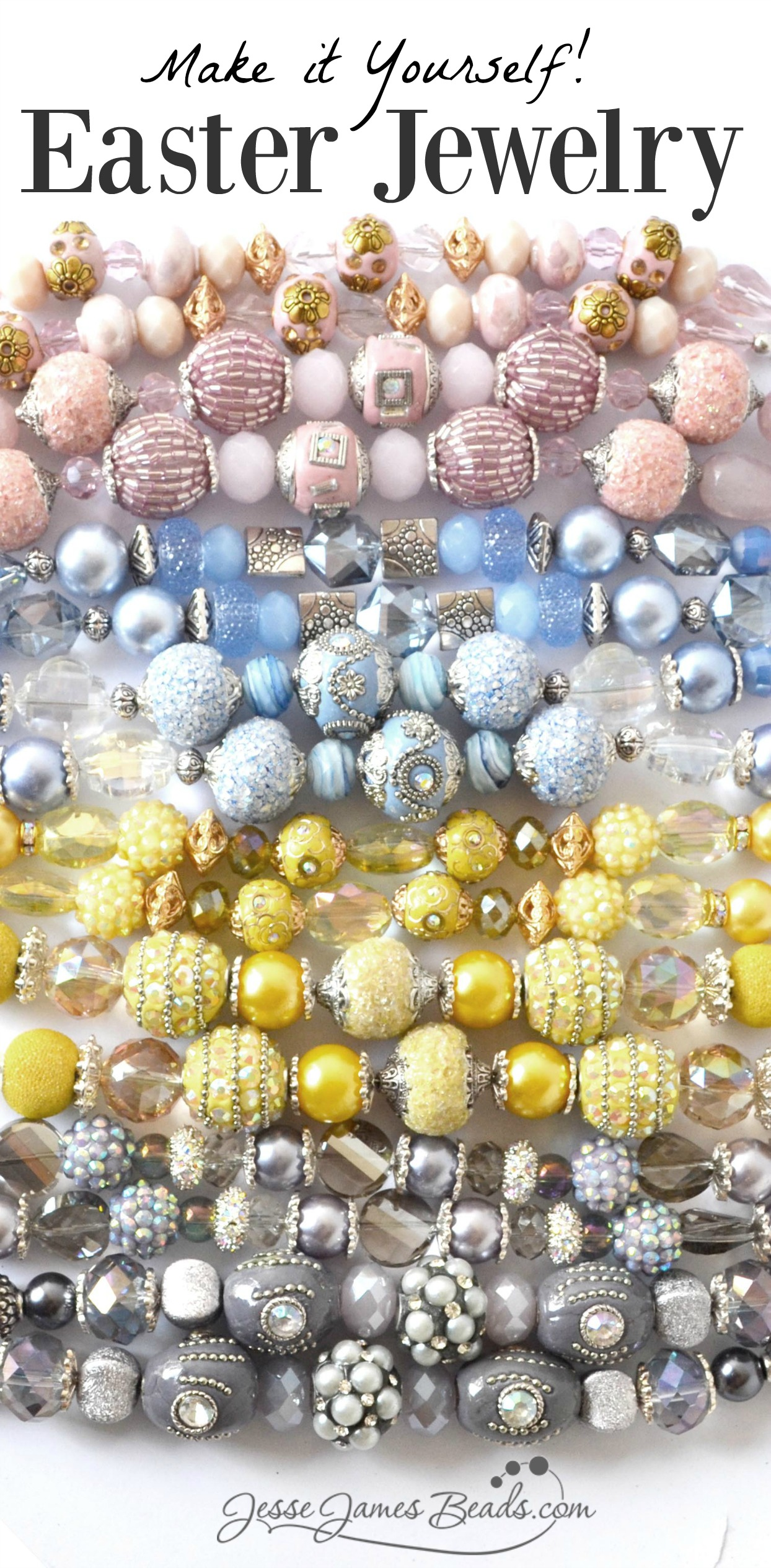 Pastel Beads to Make Easter Jewelry
