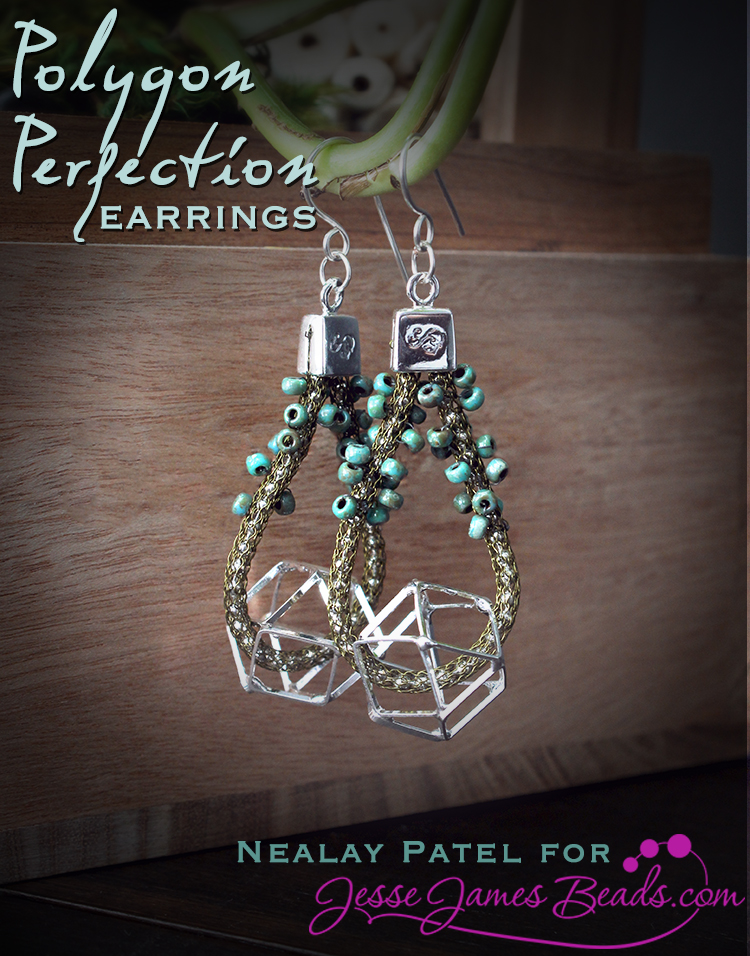 Polygon Perfection Earrings - How to Make Geometric Dangle Earrings with Nealay Patel for Jesse James Beads